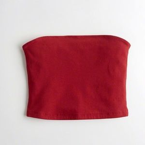Hollister Red Strapless Tube Top, XS 🍒✨ (NWOT)